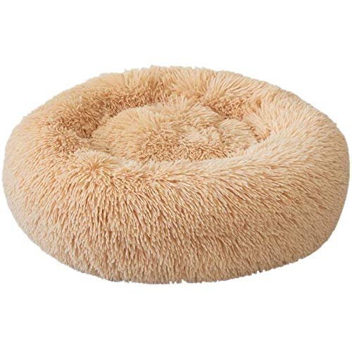 "Festnight Pet Bed, Dog Cat Round Warm Cuddler Kennel Soft Puppy Sofa, Anti-Slip Bottom,Hand Wash Only, Size L-21.6"" x 7.9"""