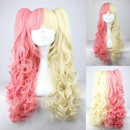 Ladieshair Cosplay Perücke blond pink 70cm wellig Lolita Wig