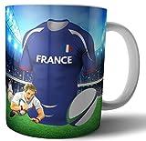 Taza con temática de rugby de Francia – Día del Padre – Cumpleaños – Regalo de Navidad