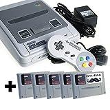 Super Nintendo & 5 Zufallsspiele