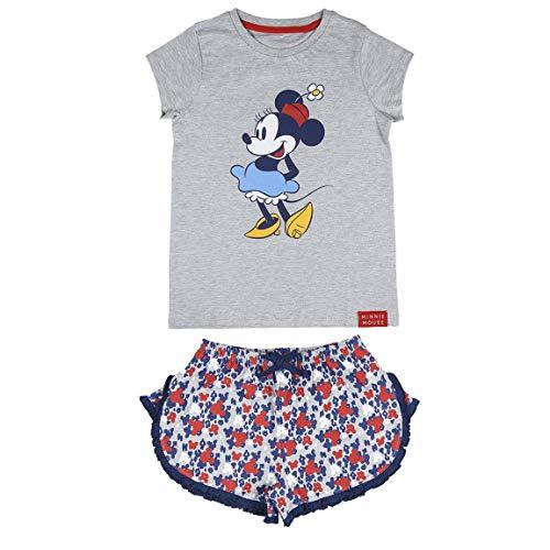 Cerdá Pijama de Minnie Mouse-Camiseta + Pantalon de Algodón Juego, Gris, 14 años para Niñas