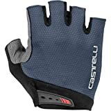 castelli Entrata Men's Cycling Short Fingers Gloves, Dark Steel Blue - Azul, S