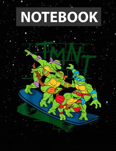 TMNT Ninja Turtle Skating On One Skateboard Notebook - 130 pages - US Letter Size