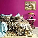 Adorise Sistemas del lecho del Leopardo Salvaje del Gato en el árbol del Estilo Moderno Cubierta del edredón Disfrutar de un sueño reparador 's - Extragrande