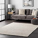 nuLOOM Hailey Handwoven Jute Area Rug, 6' Square, Off-White