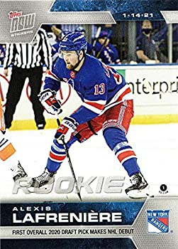 2020-21 Topps Now Hockey #4 Alexis Lafreniere Rookie Sticker New York Rangers - Only 1,726 made!