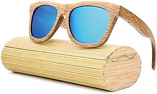 5825133b75 Gafas Gafas de Sol de Madera de bambú para Hombres, Mujeres, Marco Grande  polarizado