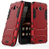 Huawei Y3 2017 Coque, MHHQ 2 en 1 Armour style robuste hybrides double couche Armure Defender TPU +...