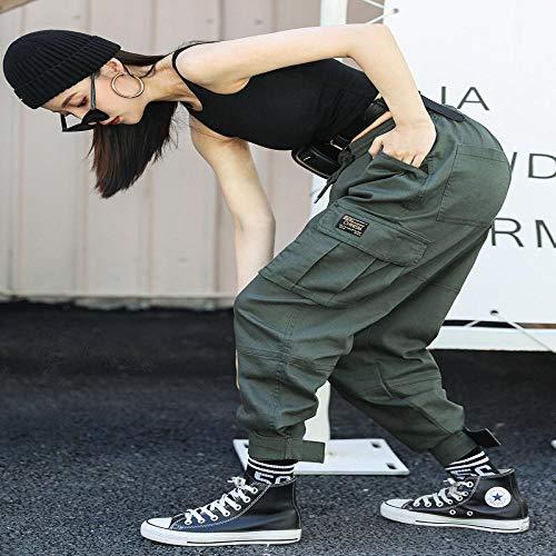 Pantalones Deportivos Overoles Mujer Harajuku Pantalones Sueltos De Talla Grande Pantalones De CháNdal Rectos Monos De Mujer Pantalones De Jogging con Bolsillo Grande XXL Womenpant