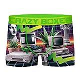 Crazy Boxer T304-1-L Boxer Microfibra (92% poliéster-8% Elastano), Unitario T304/1, L Hombres