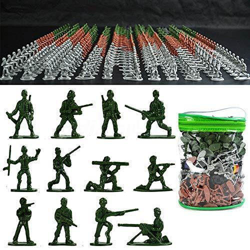 szdc88 Juguetes de soldados de plástico, 300 piezas, minifiguras del ejército militar, de plástico, para niños y adultos, gran juguete, soldados de estaño