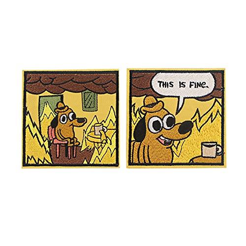 Parches Termoadhesivos, Parche de Apliques Cosidos con Dibujos Animados de Perro Lindo...