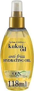 OGX Anti-Frizz Hydrating Kukui Oil, Hydrate Plus Defrizz, 4 Ounce