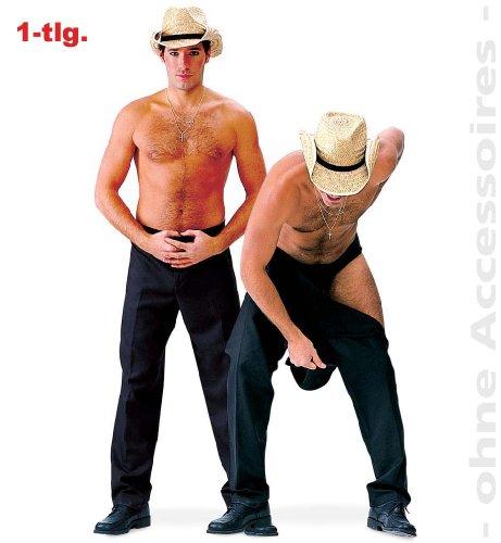 Déguisement-costume 11797 strip pantalon de sport-noir-neuf/emballage d'origine