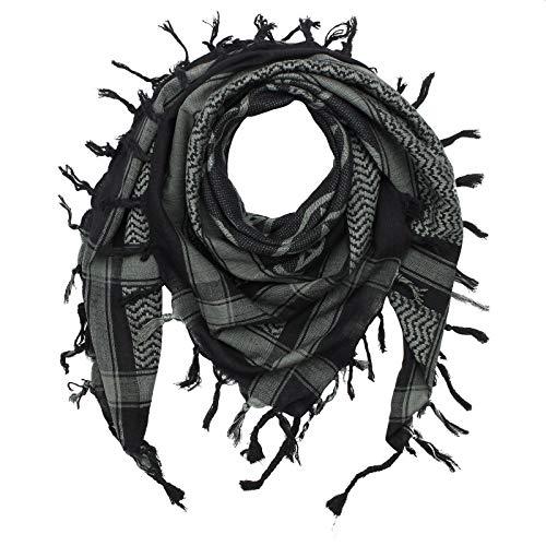 Superfreak Palituch - Pentagramm schwarz - grau - 100x100 cm - Pali Palästinenser Arafat Tuch - 100{1e397ba6feae195c40726ac1b7a137382e55a7548f1b9af74ef9ff2af0b78303} Baumwolle