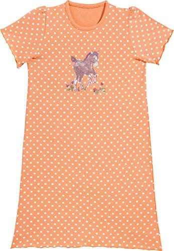 Erwin Müller Kinder-Nachthemd mit Druckmotiv Single-Jersey aprikot/weiß Größe 134 / 140