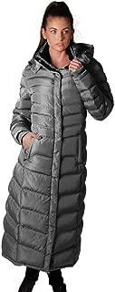 Women's Winter Warm Full Length Fleece Lined Maxi Puffer Coat