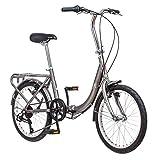 Schwinn Loop - Bicicleta Plegable para Adultos, Ruedas de 20 Pulgadas, Soporte Trasero, Color...