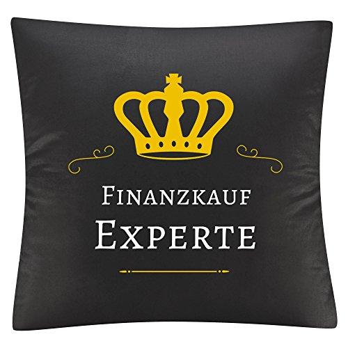 Multifanshop Kissenbezug Kissen Finanzkauf Experte schwarz - Kuschelkissen Kopfkissen Dekokissen