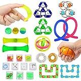 Twister.CK 27PCS Set de Juguetes sensoriales, Juguete para aliviar el estrés y la ansiedad para niños y Adultos, Juguetes para Fiestas de cumpleaños, premios de recompensas en el Aula
