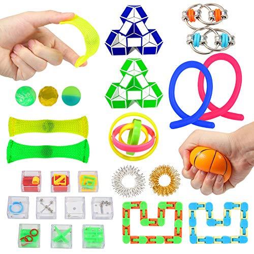 Twister.CK 27-delige set sensorisch speelgoed, speelgoed voor stress en angst voor kinderen en volwassenen, speciaal speelgoed voor verjaardagsfeestjes, prijzen voor klaslokalen, carnaval