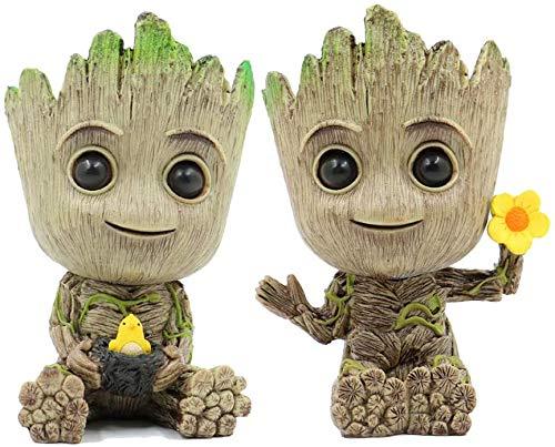 Leegicst Groot Treeman Pflanzer Blumentopf - Guardians Galaxy für Pflanzen Blumentopf - Stiftköcher Crafts Figur Wohnkultur(A)