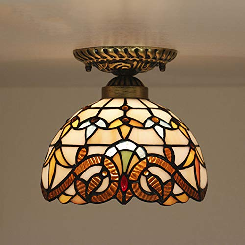 Tiffany Style Ceiling Lights Baroque for Bedroom Living Room TFC-010 8 inch