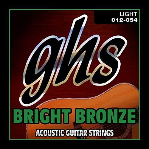 GHS BB30L 12-54 Luz Brillante Bronce Acoustic Guitar Set Cuerda