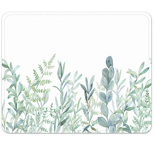 Britimes Gaming Mouse Pad, Green Grass Square Mousepads Portable Non-Slip Rubber Base Office Decor Wireless Mouse Pad for Gaming, Working, Studying