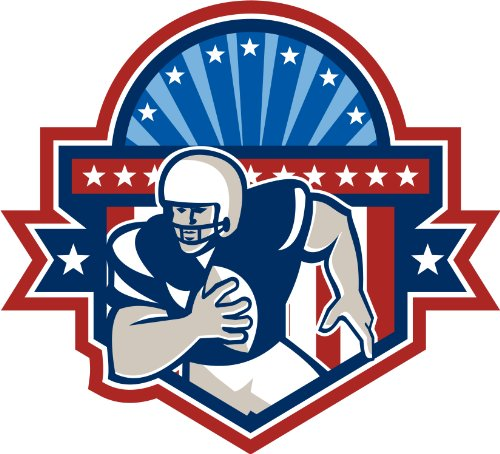 Michael & Rene Pflüger Barmstedt 8 x 8,7 cm - Kontur geschnitten - Autoaufkleber American Football USA Sticker Aufkleber fürs Auto Motorrad Handy Laptop