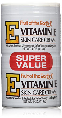 Fruit of the Earth Vitamin-E Cream 4 oz. + 4 oz. Jar (Case of 6) by Fruit of the Earth