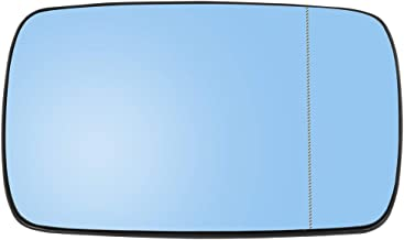 uxcell Passenger Side Right Side Mirror Glass with Backing Plate Heated Blue Tinted Glass for BMW E39 E46 320i 330i 325i 525i