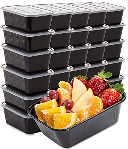 Food Containers Meal Prep Containers 30 Pack 33 Ounce Plastic Food Containers with lids Food Prep Containers for Meal Prepping Plastic Food Storage Containers With Lids Plastic Containers With Lids