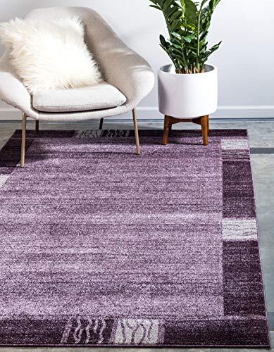 Unique Loom Del Mar Collection Contemporary Transitional Purple Area Rug (5' x 8')