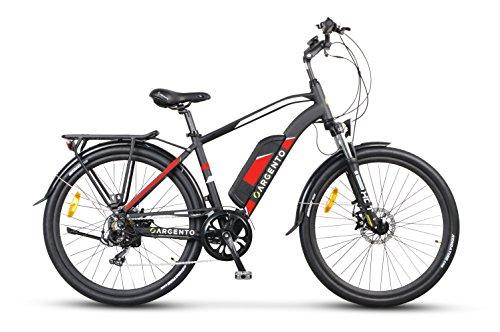"""Argento Alpha bicicletta da città, E-Bike Uomo, Assicurazione AXA """"Tutela Famiglia"""" inclusa, Nero, Telaio 46 cm"""