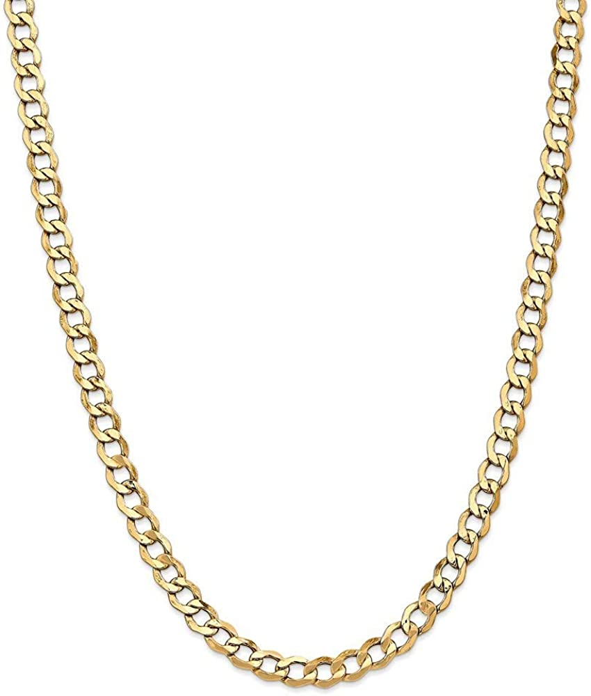 14k Semi solid 宅送 Curb Link Chain Necklace for 人気ブレゼント! Jewelry Women Gifts