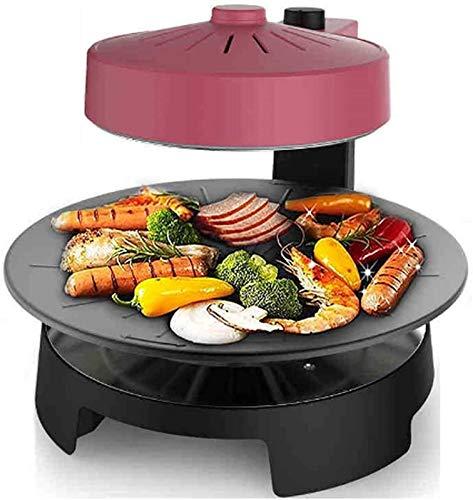 ZFFSC Grill Tragbarer elektrischer Grill, elektrische Backpfanne BBQ Poke Hot Pot Non-Stick All Mächtige Kochplattengrill Grill Maschine Rauch Grill