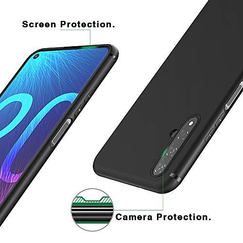 BENNALD Hülle für Honor 20 Hülle, Soft Silikon Schutzhülle Case Cover - Premium TPU Tasche Handyhülle für Huawei Honor 20 (Schwarz,Black) - 4