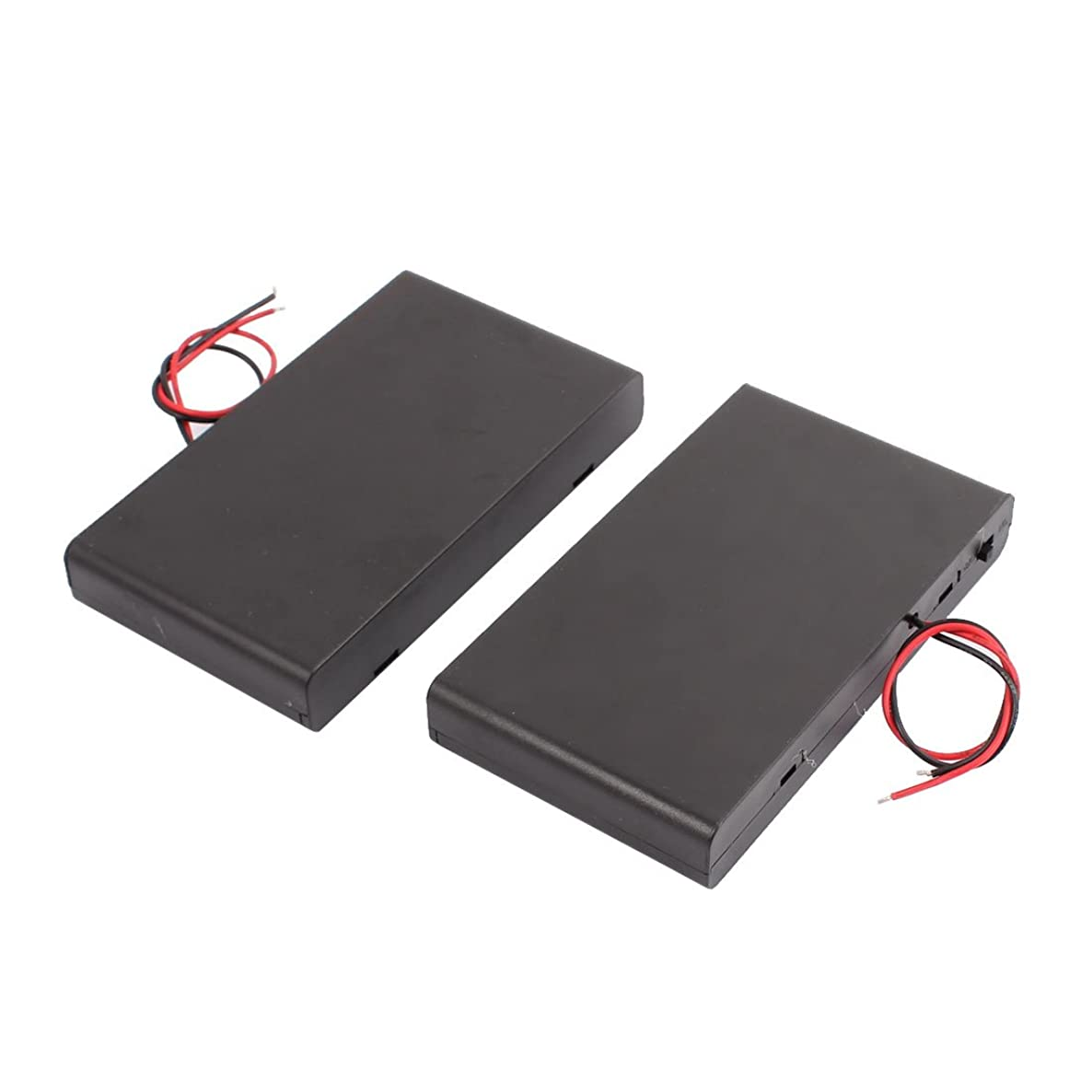 Aexit 2 PCS Household Batteries 12V Battery Box 8 x 1.5V AA Cell Battery to 2 Wire 3.7V w Switch