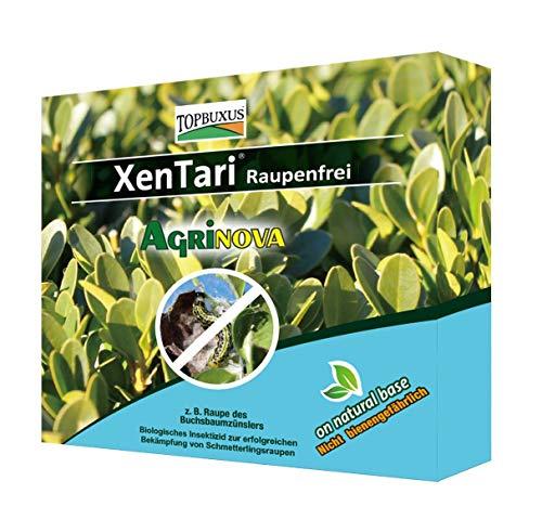 TOPBUXUS XenTari 15x1g für 150m2, gegen Buchsbaumzünsler. Profi Dosierung. Stoppt und verhindert Raupen Schäden im Buchsbaum. Mach es wie der Züchter!