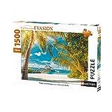 Nathan 1500Piezas Paradisíaca, Cassia Tete, Puzzle Adulto, Playa, Paisaje, Viaje, 4005556877942, Nada