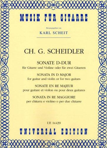 Sonate d-Dur. Violine, Gitarre
