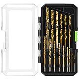 GALAX PRO 1.5-8mm Juego de Brocas Helicoidales(15 piezas),para Madera, Azulejos, Hormigón, Ladrillo, Vidrio, Cerámica y Plástico,con caja de Almacenamiento