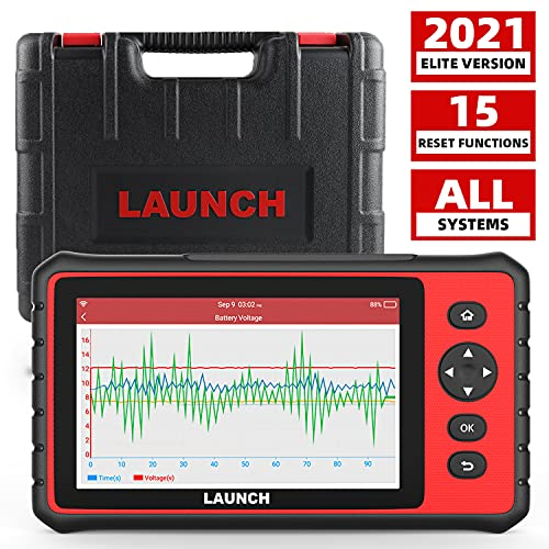LAUNCH Creader 909 Diagnostic Tool, Auto Scanner OBD2 Code Reader with 7'' Touch Screen for All Systems WiFi Car Scan Tool with 15 Reset Services Oil TPMS SAS Injector Reset IMMO Car Battery Tester
