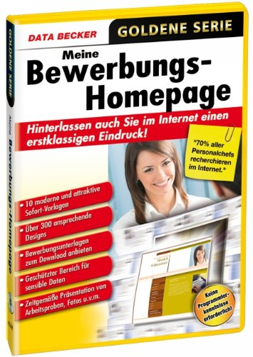 Data Becker Meine Bewerbungs-Homepage