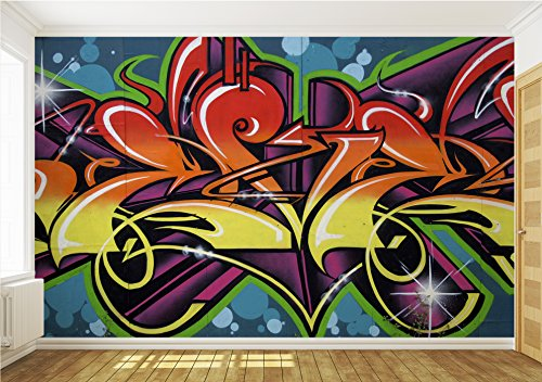 Wallpaper mural 39 39 graffiti 39 39 fleece photo wallpaper wall for Ash wallpaper mural