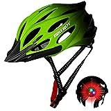 Flu Casco Bicicleta Adulto MTB Road Bicicleta Casco de Bicicleta Adulto Montaña Adultos Deportes Al Aire Libre Casco de Seguridad para Adultos Ligero Casco De Bicicleta para Hombres y Mujeres.