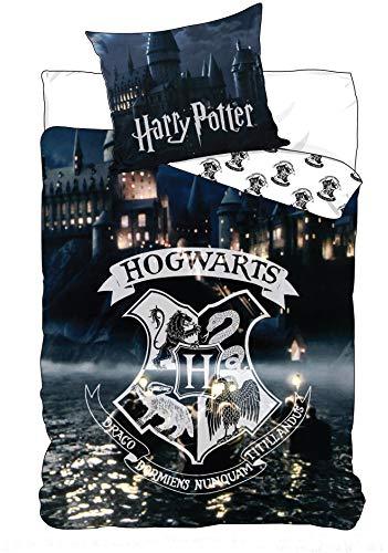 BrandMac ApS Harry Potter Hogwarts - Juego de cama infantil (funda nórdica de 140 x 200 cm y 65 x...