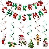 SUNSK Navidad Banner Decoraciones para Fiestas Merry Christmas Decorations Navidad Serpentinas Party Suministros
