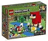 LEGO21153MinecraftlaGranjadeLana21153,KitdeconstrucciónconminifiguradeSteveyFigurasdeunaOvejaroja,unaOvejaAmarillayunbebéOveja